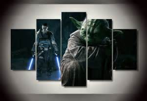 Wars Wall Decor by 5 Panel Framed Printed Wars Picture Painting