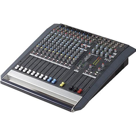 Audio Mixer Linkmaster 12 Channel 12 Ch Mono allen heath pa 12 portable 12 channel sound mixer ah pa12 b h