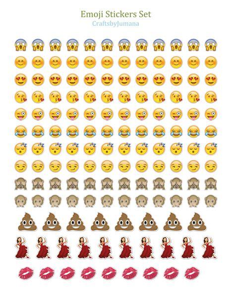 printable emojis stickers printable whatsapp emoji sticker set by craftsbyjumana on