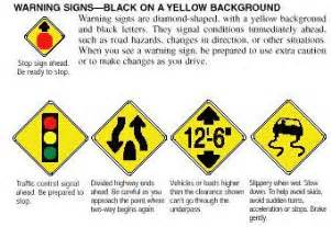 what color are warning signs traffic signs shopping regulatory signs