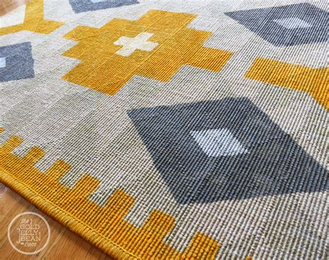 painting rugs diy painted kilim rug the gold jellybean