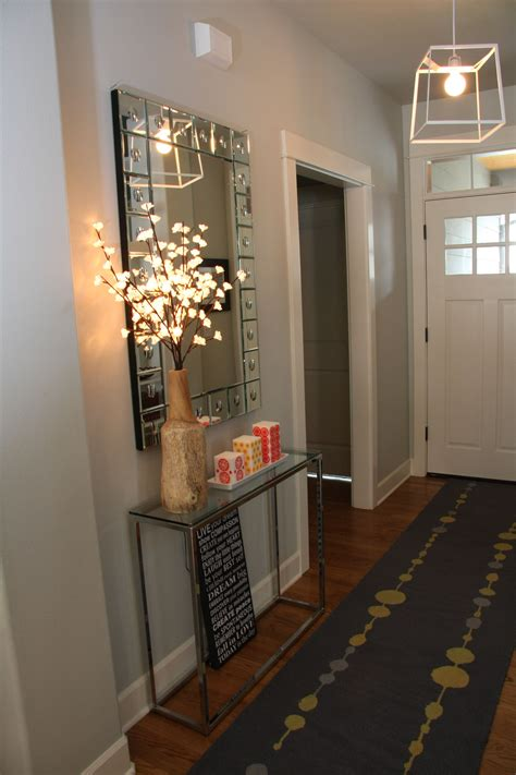 entryway small table runner mirror small entryways