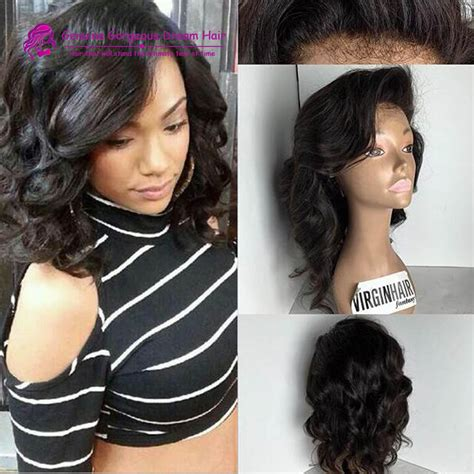 short loose wave hairstyle lace front wigs for black women layered bob