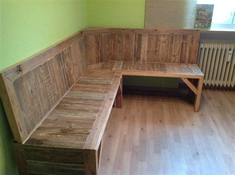 wooden corner bench seating pallet corner bench