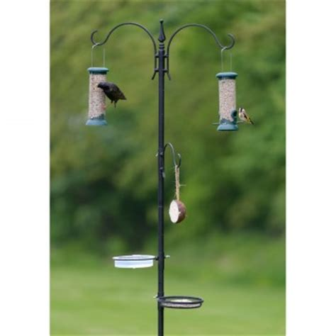 wild bird feeding station pole rspb wild bird care
