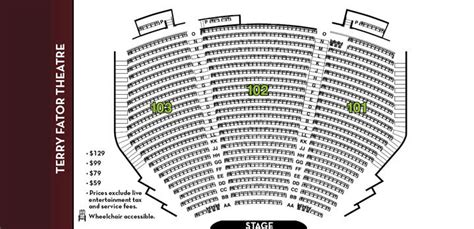 the mirage seating chart terry fator las vegas