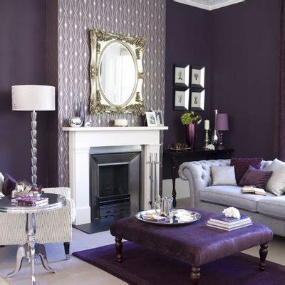 purple and gray home decor bedroom interior decorating cheerful color theme ideas