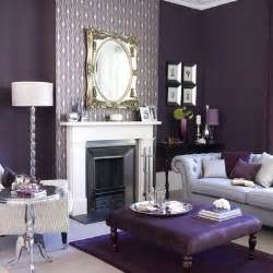 Purple Living Room Wall Color Purple Living Room Design