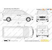 The Blueprintscom  Vector Drawing Mercedes Benz Viano MWB
