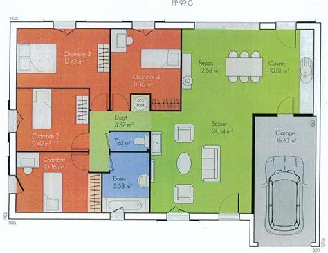 plan maison plain pied avec garage