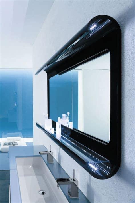 specchio da bagno con luce a led specchiera da bagno in legno curvato con luce a led