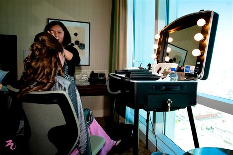 Professional Vanity Table Hair And Makeup At Hotel Twist