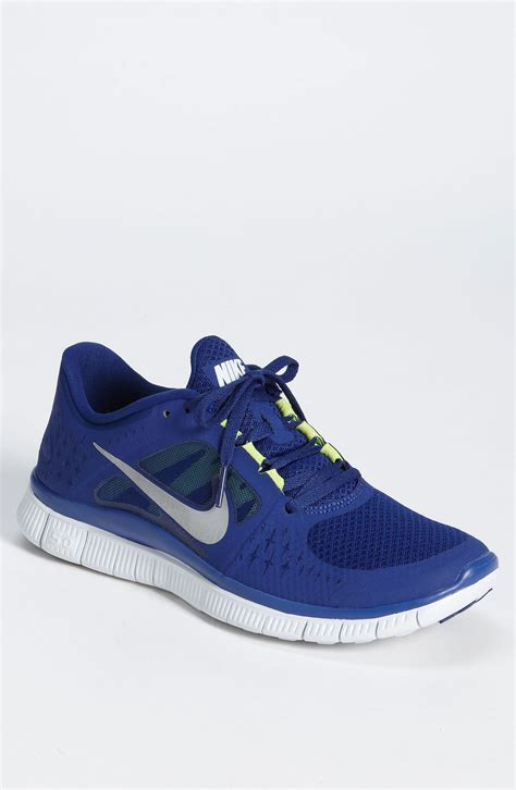 nike silver running shoes nike free run 3 running shoe in blue for royal blue