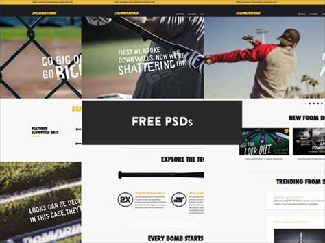 free photoshop sports templates 99 best free photoshop website templates