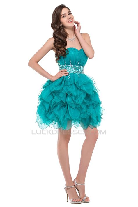Evening Cocktail Dresses   beaded sweetheart short prom evening cocktail dresses ed011664
