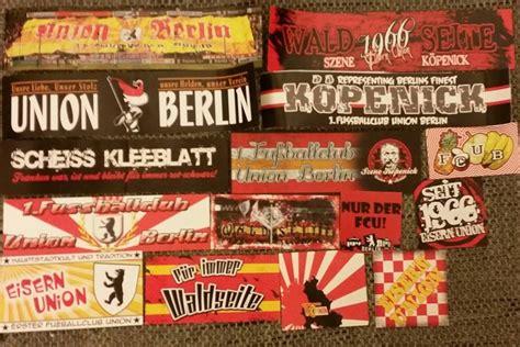Aufkleber Union Berlin by Szenekleber Aufkleber T Shirts Schals Buttons