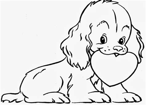 extraordinary photo about valentine dog coloring page