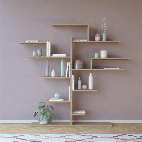 libreria da muro libreria da muro a forma di albero in legno melaminico laurel
