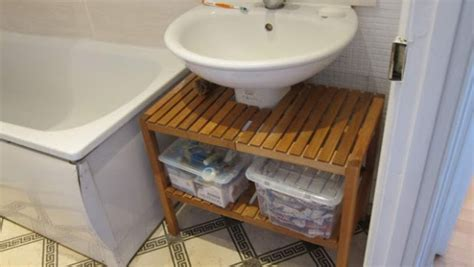 Under Bathroom Sink Storage Ikea | fitting a molger under the sink ikea hackers ikea hackers