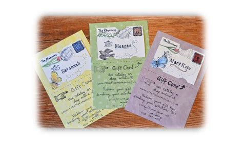 Handmade Gift Certificates - the story of a seamstress gift cards