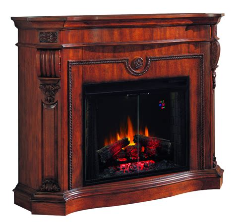 Most Efficient Electric Fireplace by 63 Florence Pecan Cherry Classical Electric Fireplace Portablefireplace