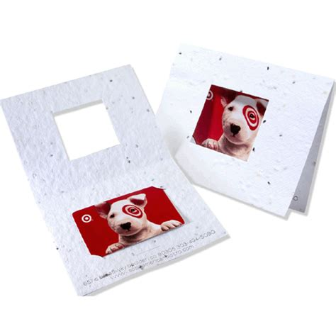 Paper Gift Card Printing - seed paper card holders gift card or business card holders 5 1 4 quot x 4 quot