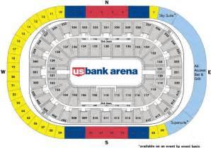 map us bank arena u s bank arena