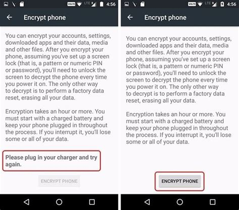 pattern unlock grayed out how to encrypt an android device to secure personal data