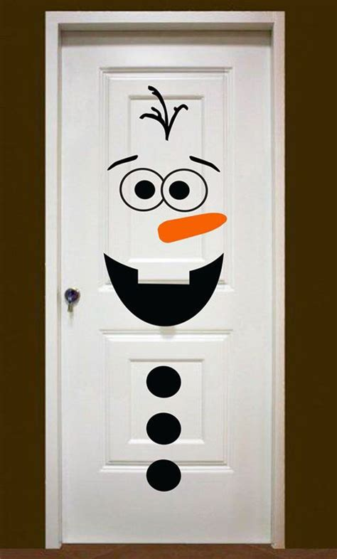 Snowman Door Decorations by Most Loved Door Decorations Ideas On