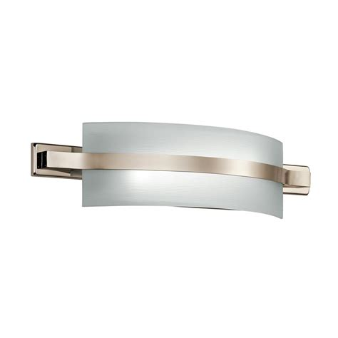 led bathroom vanity light shop kichler lighting 1 light freeport polished nickel led