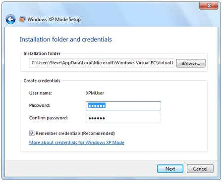 reset password xp virtual machine item install and use xp mode in windows 7