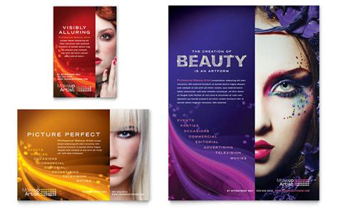 makeup artist flyer ad template design