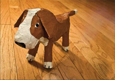 How To Make Paper Mashay - paper mache dogs the bark