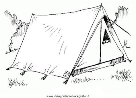 disegni tende disegno tenda canadese da colorare