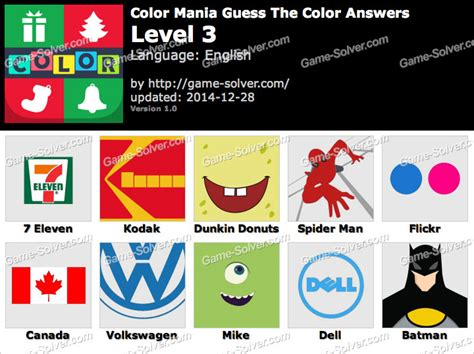 guess the color answers color mania guess the color level 3 solver