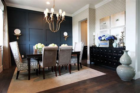 Wood Accent Wall In Dining Room Accent Wall Ideas For Dining Room Dining Room Contemporary