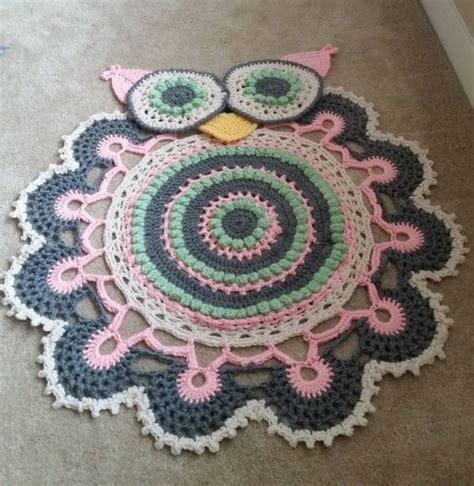 owl crochet rug pattern all the cutest ideas doily rug