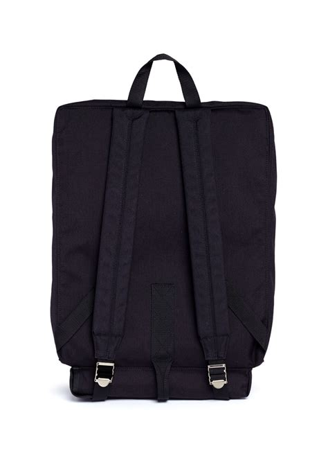 Garcon Square lyst comme des gar 231 ons square canvas backpack in black