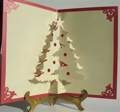 3d tree card template handmade pop up cards tree pop up up greeting