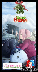 merry christmas   favorite anime couplessasuke  sakura picture  blingeecom