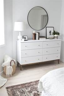 White Dresser With Brown Top Retro Brown Wooden Vanity Dresser With Oval Mirror And