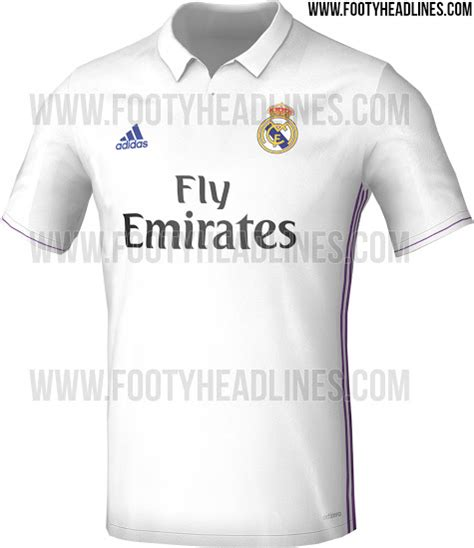 Jersey Home Real Madrid 2016 real madrid home jersey for 2016 17 season leaked photos
