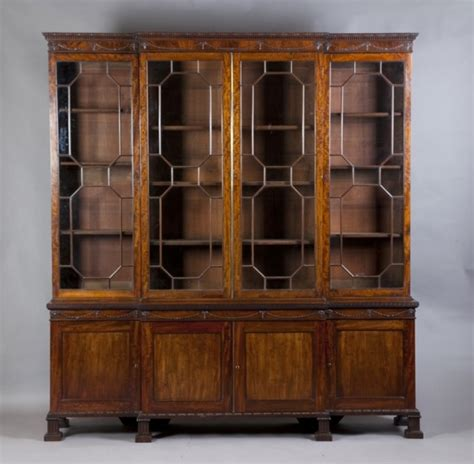 Library Bookcase Sold 19c Mahogany Breakfront Library Bookcase Antique