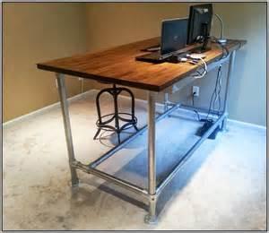 Stand up desk plans wood desk home furniture design