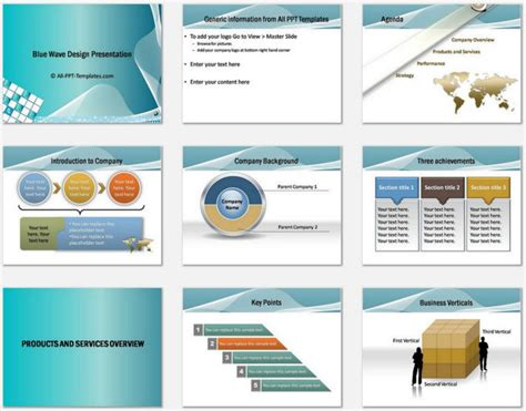 Powerpoint Blue Wave Intro Charts 1 Images Frompo Powerpoint Company Profile
