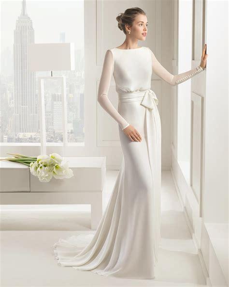 Brautkleid Schlicht Langarm by 30 Exquisite Sleeved Wedding Dresses Chic