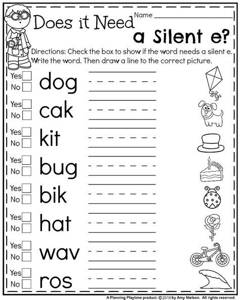 magic e pattern first grade summer worksheets worksheets summer and