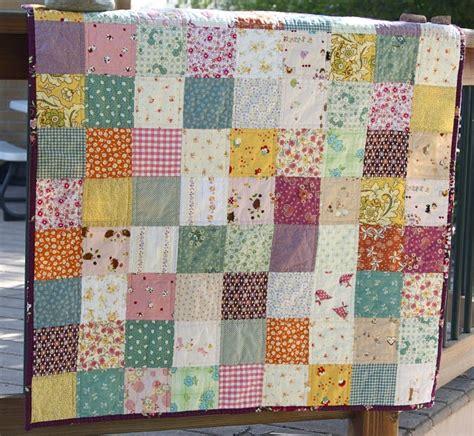 Basic Quilt quilt in simple squares crafty