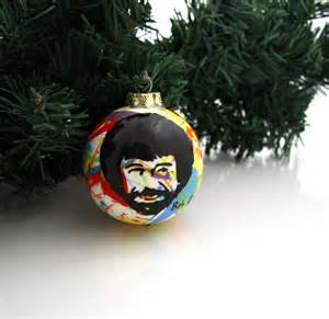 bob ross christmas ornament by lennymud on etsy