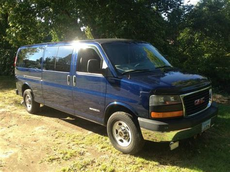 gmc savana 3500 passenger for sale purchase used 2003 gmc savana 3500 sle extended passenger